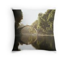 The Bridge at Rakotz Throw Pillow