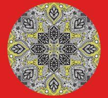Boho Sunshine Medallion Pattern Baby Tee