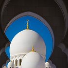 United Arab Emirates. Abu Dhabi. Sheikh Zayed Grand Mosque. Domes through the Arches. by vadim19