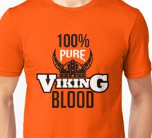 100% pure viking blood Unisex T-Shirt
