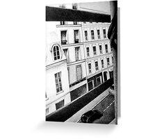 Paris Street View, 2011, 50-70cm, graphite crayon Greeting Card