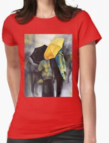 Rain in Amsterdam, 2011, 24-30cm, oil on canvas Womens Fitted T-Shirt