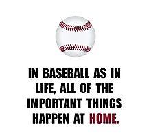 Baseball Home Photographic Print