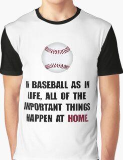 Baseball Home Graphic T-Shirt