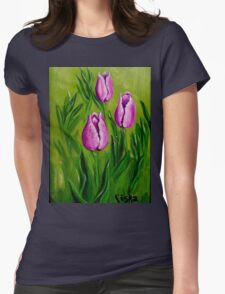 Tulips (2) Womens Fitted T-Shirt