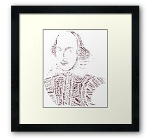 William Shakespeare - Word Collage with 400 Play Characters Framed Print