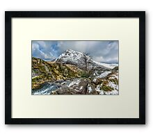 Head of the White Slope Framed Print
