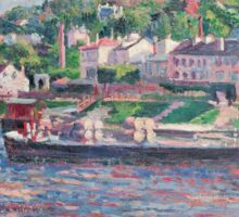 Maximilien Luce - Bas-Meudon The Barge On The River  Sticker