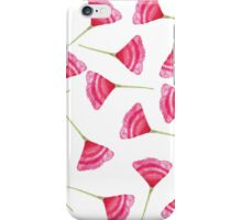Pretty Pink and Green Scattered Flower Pattern iPhone Case/Skin