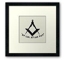 SIT LUX, ET LUX FUIT Framed Print