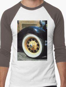 Car Wheel Closeup Men's Baseball ¾ T-Shirt