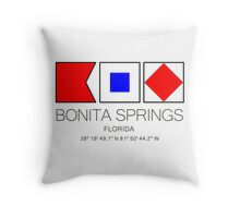 BONITA SPRINGS, FLORIDA  Nautical Flag Art Throw Pillow