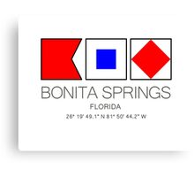 BONITA SPRINGS, FLORIDA  Nautical Flag Art Canvas Print