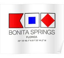 BONITA SPRINGS, FLORIDA  Nautical Flag Art Poster