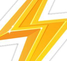 Lightning bolt - 3D golden yellow Sticker