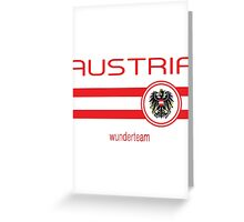 Euro 2016 Football - Austria (Away White) Greeting Card
