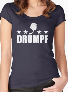 Drumpf Logo Women's Fitted Scoop T-Shirt