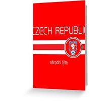 Euro 2016 Football - Czech Republic (Home Red) Greeting Card