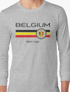 Euro 2016 Football - Belgium (Home Red) Long Sleeve T-Shirt