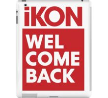 iKon welcome back RED iPad Case/Skin
