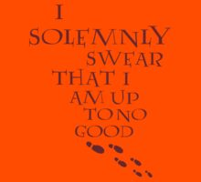 I Solemnly Swear That I Am Up To No Good (Red) Kids Tee