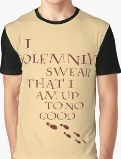 I Solemnly Swear That I Am Up To No Good (Red) Graphic T-Shirt