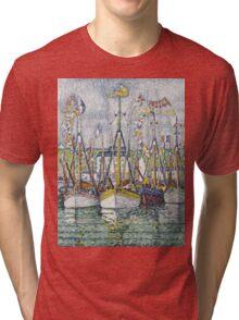 Paul Signac - Blessing Of The Tuna Fleet At Groix Tri-blend T-Shirt