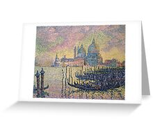 Paul Signac - Entrance To The Grand Canal Venice Greeting Card