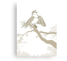 Song of the golden nightingale Canvas Print