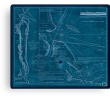 American Revolutionary War Era Maps 1750-1786 737 Plan of Amelia Island in East Florida north point of Amelia Island lyes in 30 55 north latitude 80 23 w Inverted Canvas Print