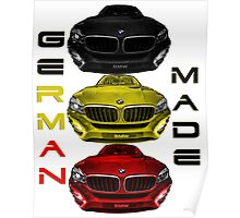 BMW GERMAN MADE Poster