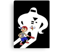 Ness & Buzz Buzz vs Starman Jr. Canvas Print