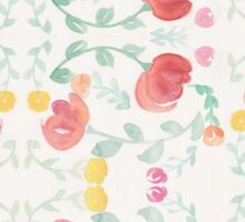 Original Watercolor Floral Painting Pattern- Tulips Sticker