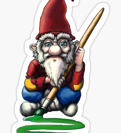 Painting Elf (Gnome) Sticker