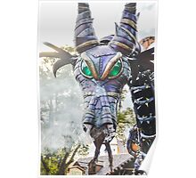 Steampunk Dragon Maleficent Poster