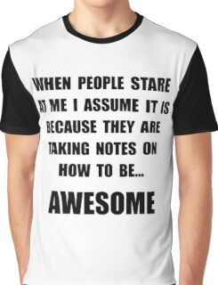 Stare Awesome Graphic T-Shirt