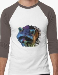 Raccoon cartoon Men's Baseball ¾ T-Shirt
