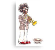 Funky Busker Trumpet Canvas Print