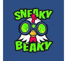 Sneaky Beaky Chicken Photographic Print
