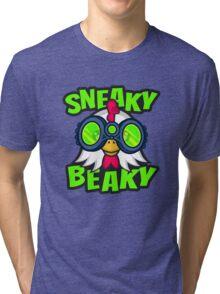 Sneaky Beaky Chicken Tri-blend T-Shirt