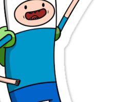 Finn the Human Adventure Time Sticker