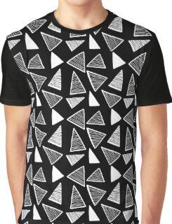 Black & White Geometric Pattern Graphic T-Shirt