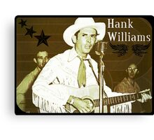 Hank Williams Sr. Designs Canvas Print