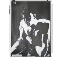 Nude man male portrait black white modern original unique art iPad Case/Skin