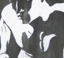 Nude man male portrait black white modern original unique art Sticker