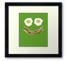 Bacon and eggs always make me smile Framed Print