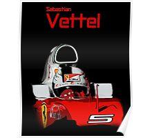 Sebatian Vettel; Ferrari 2016 Poster