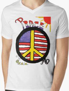 Peace Flag USA Mens V-Neck T-Shirt