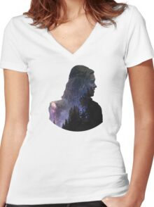 Clarke - The 100 Women's Fitted V-Neck T-Shirt