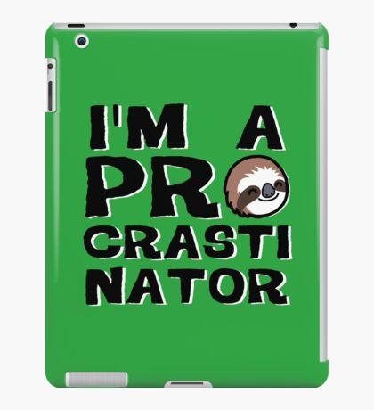 Procrastinator iPad Case/Skin